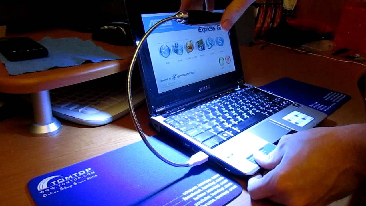 Bright Flexible Mini 28 LED USB Light Computer Lamp - YouTube