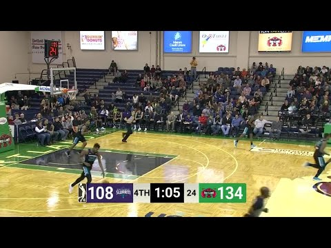 Maine Red Claws with 23 3 pointers  vs. Greensboro Swarm