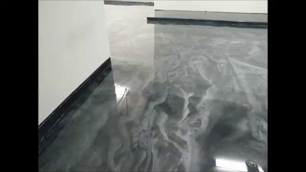 Green Fox Epoxy Silver Metalic Epoxy Garage Floor Houston