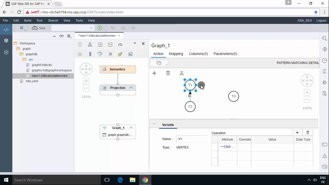 SAP HANA Academy - Graph: XSA - Calc View - Pattern Matching with Graphical  Editor [2 0 SPS 00]
