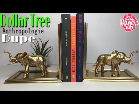 DOLLAR TREE DIY Elephant Bookends