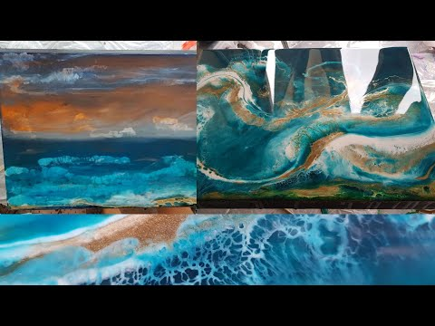 Epoxy Resin Art makeover painting! How to tutorial