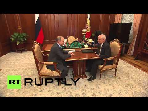 Russia: Putin meets with CIS chairman Lebedev in Moscow