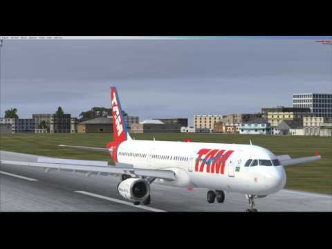 [Flight Simulator X Steam Edition] Airbus A321 TAM Landing at Senegal AIrport (GOOY)