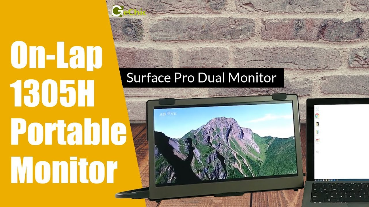 [GeChic] Setup a dual monitor for Surface Pro with On-Lap 1305H