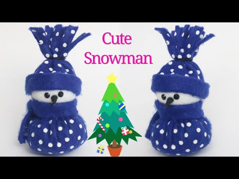 cute-snowman|how-to-make-snowman-from-felt-sheet-at-home|-christmas-home-decorations|-kids-crafts