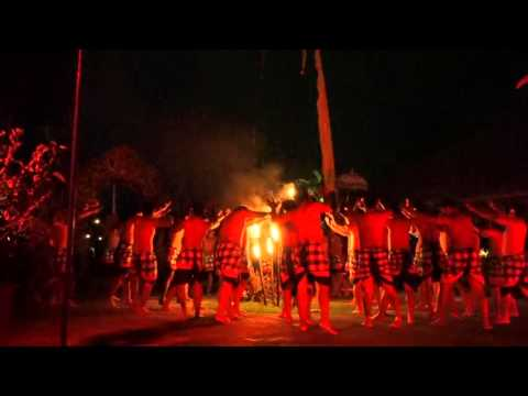 Kecak Fire and Trance Dance, Ubud, Bali. (4 mins)