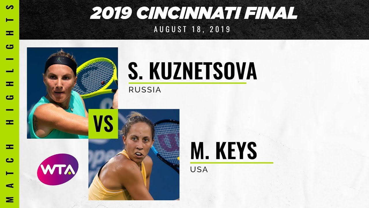 Svetlana Kuznetsova vs. Madison Keys | 2019 Western & Southern Open Final | WTA Highlights