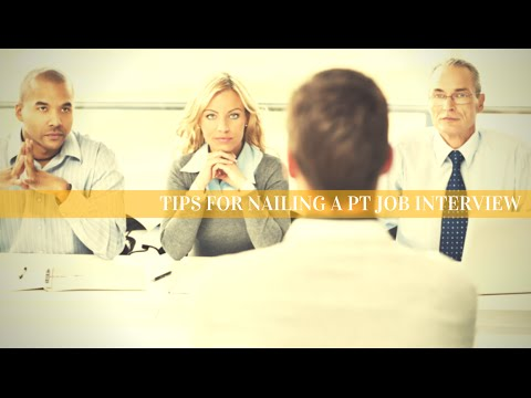 Top 3 Physical Therapy Job Interview Tips
