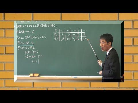 授業まるごと!高2数学 3次方程式の実数解の個数の応用 大分県立別府翔青高校 塩月孝弘指導教諭