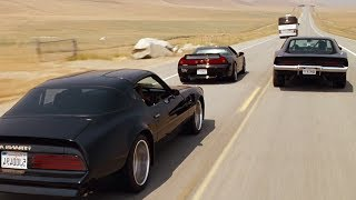 FAST and FURIOUS 4 - Ending Chase (Charger, NSX-R & Trans Am vs Bus MC-9) #1080HD