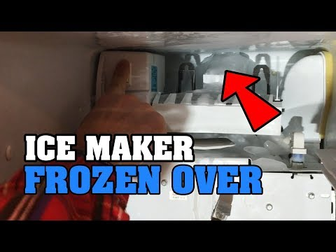Ice maker FROZEN over - how to FIX your freezer machine