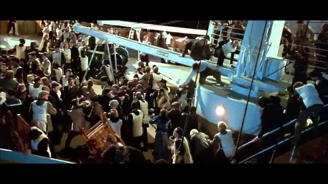 Titanic - Sinking scene [FULL] Part 1/2 - YouTube