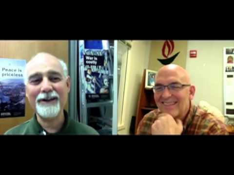 Michael McConnell talks to Bob Goodman at AFSC