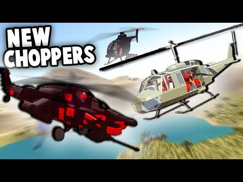 FUTURISTIC Chopper is INVINCIBLE! NEW Huey & Havoc Helicopters!  (Ravenfield New Vehicle Gameplay)