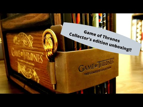 Game Of Thrones Complete Collection: Collector's Edition Blu Ray Unboxing