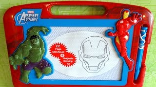 Marvel Avengers Assemble Phidal Magnetic Drawing Kit & Storybook - Book & Toy