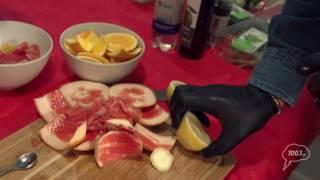 «Завтрак включен», Константин Ивлев, Зелёный салат с обжаренными морепродуктами и цитрусовой заправк