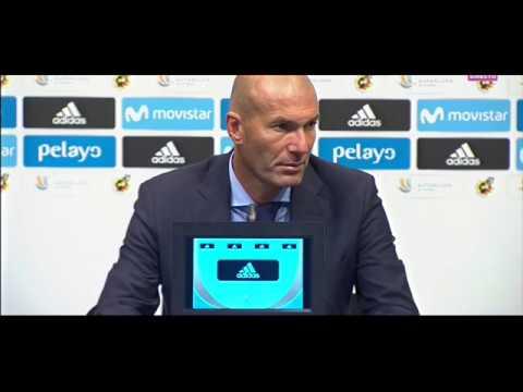 Rueda de prensa de Zidane | Barcelona1-3 Real Madrid | Supercopa España | Ida