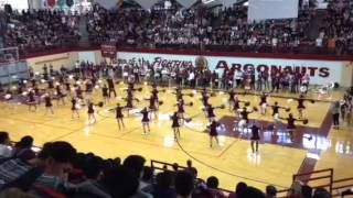 Poms at Pep Assembly Argo Homecoming 2014