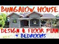 BUNGALOW HOUSE FLOOR PLAN | 4 BEDROOMS BUNGALOW | QUICK UPDATE | KATAS NG TAIWAN | OFW HOUSE