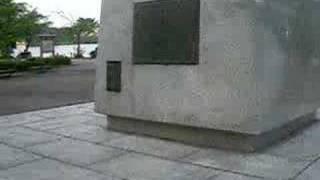 茨城県水戸市の千波湖畔に設置されてある水戸光圀銅像です。