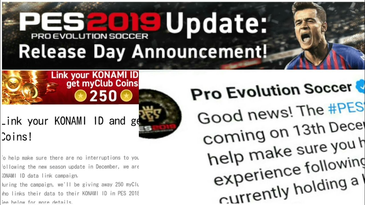 Pes 2019 mobile RELEASE DATE|pes 2019 android release date