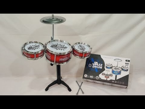 Jazz Drum set for kids | Musical Drums | Musical Toys | Unboxing And tasting