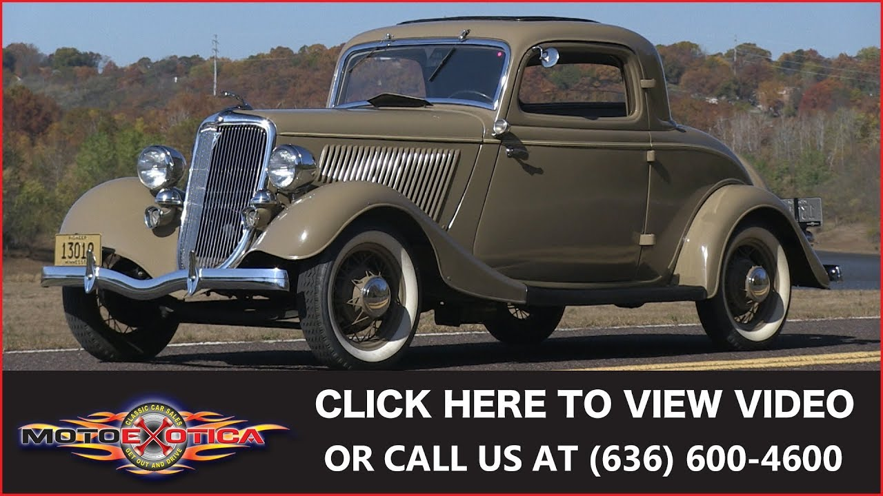 1934 Ford Deluxe Three-window Coupe (SOLD)