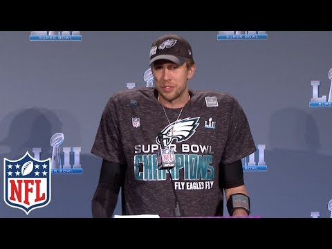 pretty nice b2af7 eac71 Nick Foles' Super Bowl LII MVP Press Conference | NFL ...