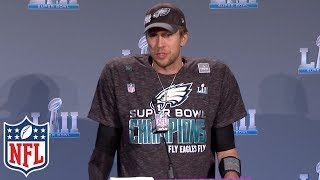 Nick Foles' Super Bowl LII MVP Press Conference | NFL Highlights