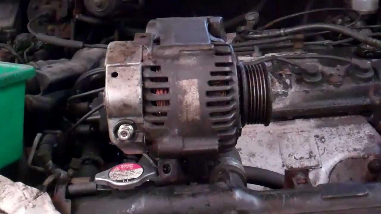 Adjusting alternator belt tension  bolt & pivot bracket
