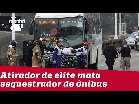 RJ: Atirador de elite mata sequestrador de ônibus na Ponte Rio-Niterói