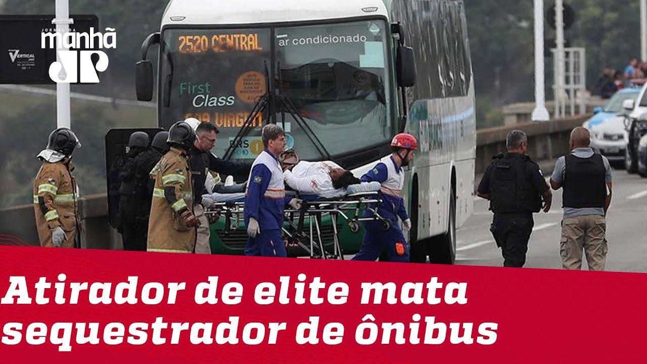 JOVEM PAN NEWS - RJ: Atirador de elite mata sequestrador de ônibus na Ponte Rio-Niterói