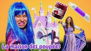 Les princesses et le dentifrice au chocolat. Vidéo drôle pour s'amuser.