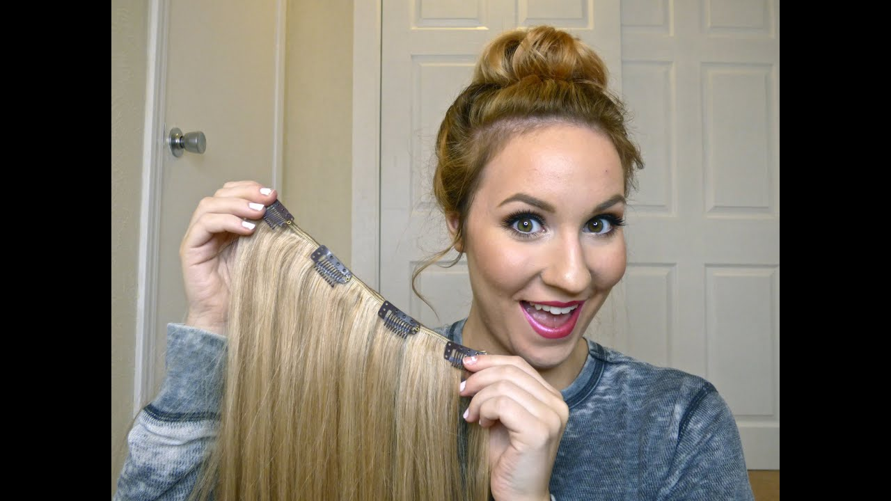 Diy How To Make Your Own Clip In Hair Extensions Youtube