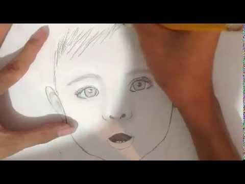 dibujo de una beb a lapiz  YouTube