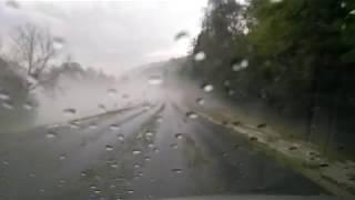 Silná bouřka u Luhačovic (22.7. 2017)