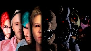 FIVE NIGHTS AT FREDDY'S + YOUTUBERS = TERROR & SCREAMERS - Part 2 (Especial 16K subs)