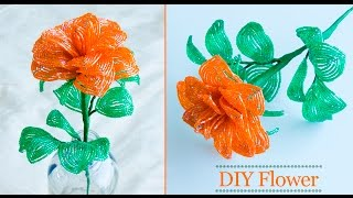 Download Video How to make rose flower | flower making for home decor | DIY | Beads art MP3 3GP MP4