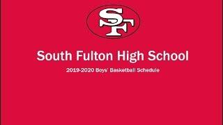 South Fulton High School 2019-2020 Boys' Basketball Schedule