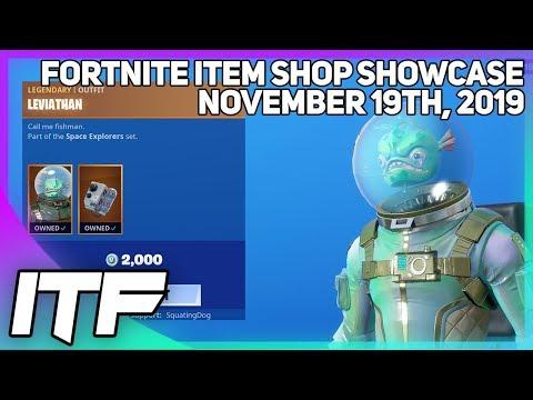 Fortnite Item Shop LEVIATHAN AND TRACKER ARE BACK! [November 19th, 2019] (Fortnite Battle Royale)