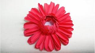 Gerbera Daisy Paper Flower Diy Tutorial | Kids paper craft | linascraftclub