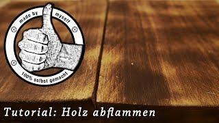 Paletten Holz Flammen abflammen flämmen Tutorial Anleitung flaming wood DIY antik Vintage