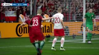 [HD] Portugal vs Pologne Euro 2016 30/06/2016 Fifa 16 FR 1080p60