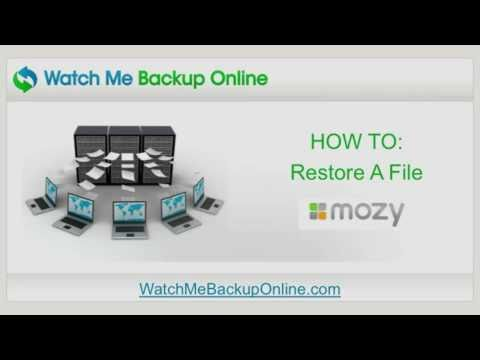 HOW TO: Restore A File Using Mozy Online Backup
