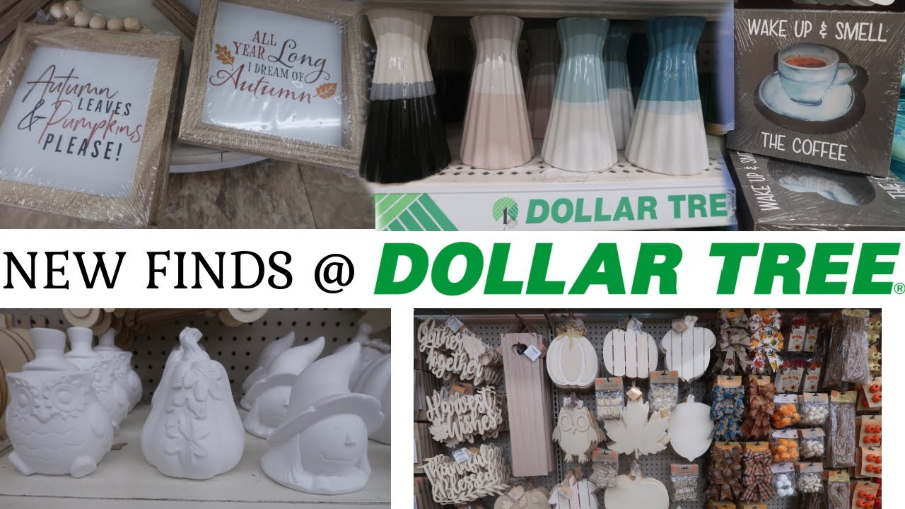 DOLLAR TREE  * NEW FALL FINDS & MORE