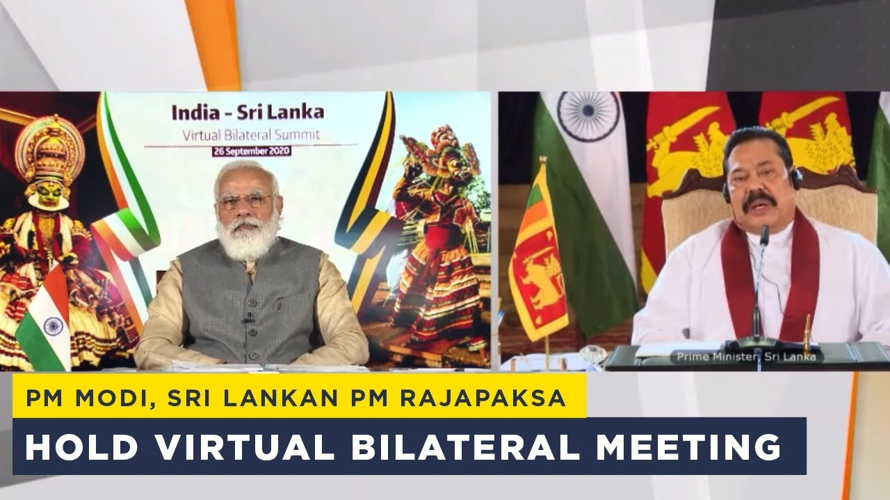 PM Modi, Sri Lankan PM Rajapaksa hold virtual bilateral meeting