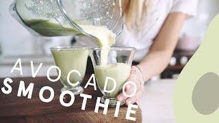 How to Make a 2-minute Avocado Smoothie | Nutrition Stripped