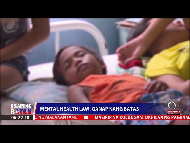 Mental health law, ganap ng batas
